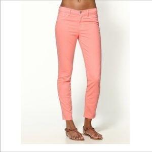 J Brand Womens Skinny Leg Capri in Coral  Size 27